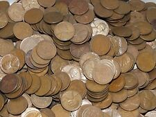 Lot / Bag of 1000 Lincoln Wheat Cents / Pennies $10 Face Value 1c Coins - JN314