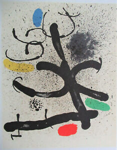 MIRO - SURREAL WIND STORM - ORIGINAL LITHOGRAPH -  1961 -  FREE SHIP IN US !!!