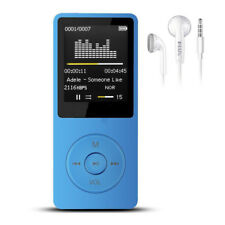 "New Ultra-thin MP4 Music Player 80hours Play 1.8"" Screen/FM/E-Book Blue LK"