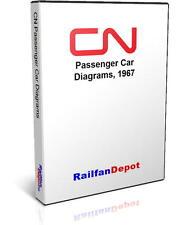 Canadian National 1967 Passenger Car Diagrams - PDF on CD - RailfanDepot