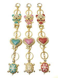Keyring(Hearth, Bear, Turtle)Diamond Crystal Accessory Key Chain Gift Rhinestone