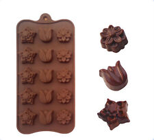 Silicone Tulip Flower Chocolate Cookie Mould Baking Ice Cube Jelly Valentine