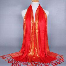 Fashion Women Cotton Tassel Long Hijab Pashmina Shawl Scarf Scarves Stole Wrap
