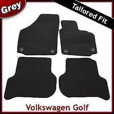 VW Golf Plus 2005-2013 Oval Eyelets Fully Tailored Carpet Car Floor Mats GREY