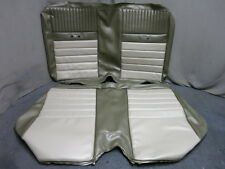 65 66 Mustang Deluxe Convertible Pony Back Rear Seat Upholstery Repro Ivy Gold