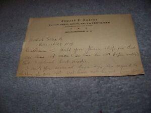 Edward L. Andrus Shipper of Hay & Straw Georgetown NY Worlock Stone Canastota