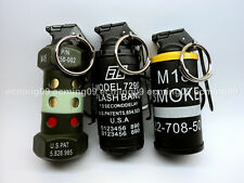 (3 x Lighters) Military Smoke Grenade M18  + Flashbang M85 + CTS 7290 w/keyring