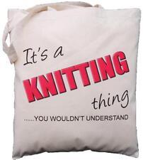Es ist ein Strick-Ding-Sie würden nicht verstehen-Baumwoll Schultertasche
