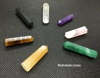 Reiki Charged Gemstone Crystal Wand Hexagon Point Healing Stone Various Options