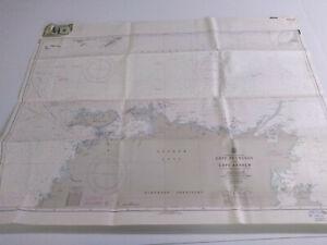 Antique Vintage  Navy Nautical Chart Aeronautical Map   Australia  Cape Fourcroy