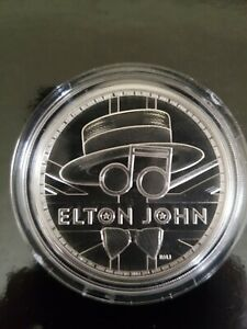 1 oz Solid Silver .999 Royal Mint Rock Legends Elton John