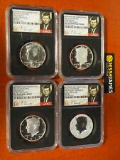 2014 W REVERSE PROOF SILVER KENNEDY 4 COIN NGC PF70 SP70 50TH ANN SET S D P