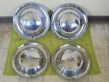 """1954 Plymouth HUB CAPS 15"""" Set of 4 Wheel Covers Hubcaps 54"""