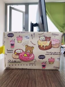 Rilakumma bear zip Makeup Bag Cosmetic handbag storage bag wallet fashion new