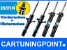 Bilstein b4 Shock Absorber Front+Rear for Smart Fortwo Coupe 4x