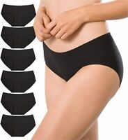 ALTHEANRAY Womens Underwear Seamless Cotton Briefs Panties, Black, Size X-Large