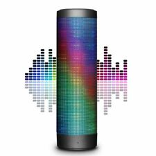 Wireless Bluetooth Speaker, Hi-Fi 4.0 Stereo LED Lights Mic, AUX, TF