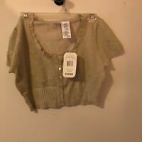 Ladies Half Top No Boundaries New With Tags Sparkly Gold