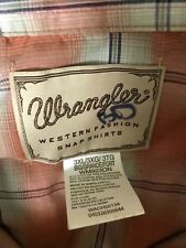 Wrangler  Mens Big Western Pearl Snap Shirt Long Sleeve 3X
