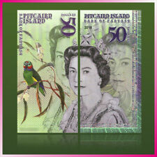 $50 Pitcairn Islands QEII POLYMER Test Private Fantasy banknote