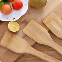 Natural Kitchen Bamboo Spoon Cooking Utensils Health Wood Spatula Mixing Holder