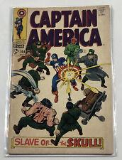 "Marvel Comics Captain America #104 ""Slave Of The Skulls!"" 1968 1St Series"