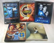 5 Sci-Fi Movie DVDS -  5th Element,Sphere,THX 1138,Omega Code 2,Fortress