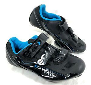 Women's NEW Louis Garneau HRS-80 Cycling Shoes Black Sz 39 US 8