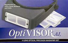 Donegan AL-S1 OptiVisor® AL Binocular 4 Lens Magnifier Set, Adjustable Headband