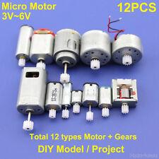 12PCS DC 3V 6V Mini 130 Micro DC Motor Gear Round Small Motor Toy Car DIY Model