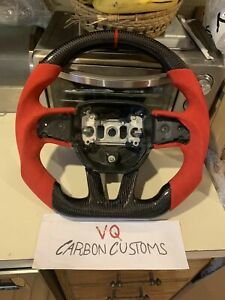 2015-2020 Dodge Challenger Charger Durango Carbon Fiber Steering Wheel Alcantara