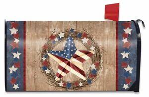 Americana Barnstar Patriotic Magnetic Mailbox Cover Primitive Briarwood Lane