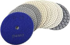 "5"" Dry Diamond Polishing Pads Set of 8 PCS With Black Buff for Granite/Concrete"