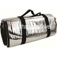 LARGE REFLECTIVE PADDED FOIL THERMAL SURVIVAL BLANKET for emergency or picnic