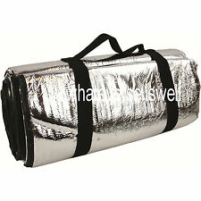 LARGE REFLECTIVE PADDED FOIL THERMAL SURVIVAL BLANKET thermo emergency picnic