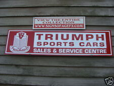 1950'S TRIUMPH TR2 OR TR3 DEALER/SERVICE CENTRE SIGN/GARAGE ART W/BADGE