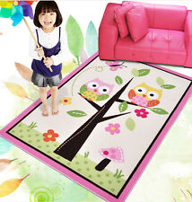 Home Textile,Unique Cartoon Owl Carpet,Delicate Butterfly Kids Rug  39''*56'