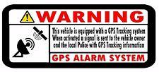 10 x GPS TRACKING Security decal stickers Car Motorbike Scooter Motorcycle 60mm