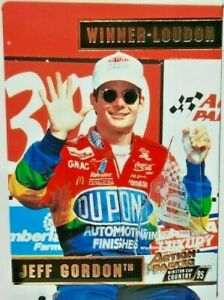 1995 Jeff Gordon Action-Packed Now&Then Silver-Speed DUPONT #51-Great Condition!