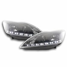 FORD FOCUS MK2 2008-2011 BLACK DRL DEVIL EYE HEADLIGHTS HEADLAMPS PAIR
