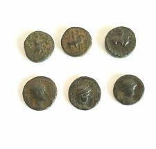 Ancient coins,Indo scythian ,Kushan coins Lot 6 . 2  gram.2.20g  2 century AD,AE