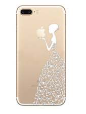 """Handyhülle iPhone 7 """"Butterfly girl-white"""" weich"""