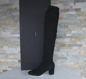 Dolce & Gabbana D&G Stiefel 37 Overknees Boots Schuhe schwarz neu ehem UVP 1295€