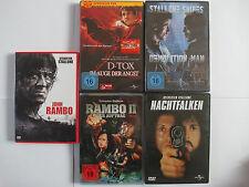 Sylvester Stallone Sammlung - Rambo 2 Uncut, D- Tox, Demolition Man, Nachtfalken