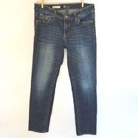 Kut from the Kloth Women's Size 6 Dark Wash Blue Stevie Straight Leg Jeans