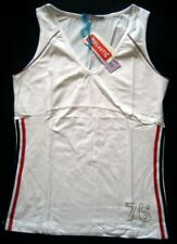 SIX FITNESS Mädchen Sporttop Gr. XL-XXL Weiß mit Streifen