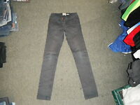 "River Island Slim Leg Size 6 Leg 30"" Faded Dark Blue & Red Dot Ladies Jeans"