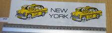 NEW York Taxi Checker Con gli Occhiali Adesivo