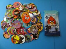 Pogs 120 Miscellaneous Variety + Angry Birds Pack w/6 Pogs & 1 Slammer in Pack
