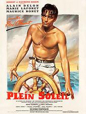 PLEIN SOLEIL Alain Delon affiche cinema française repro 60x80 cm